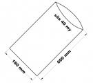 PE sáček průhledný - 180 x 600 mm / 0,04