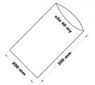 PE sáček průhledný - 200 x 300 mm / 0,04