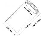 PE sáček průhledný - 220 x 240 mm / 0,1 - lepící klopa