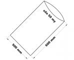 PE sáček průhledný - 500 x 600 mm/ 0,05