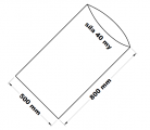PE sáček průhledný - 500 x 800 mm / 0,04