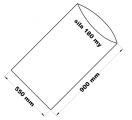 PE sáček průhledný - 550 x 900 mm / 0,18