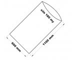 PE sáček průhledný - 600 x 1100 mm / 0,18