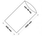 PE sáček průhledný - 650 x 1050 mm / 0,09