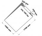 PE sáček průhledný - paletizační 128+86x170x0,100