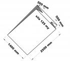 PE sáček průhledný - paletizační 140+100x250x0,125
