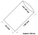 PE sáček průhledný - 53x130 mm / 0,04