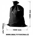 PE odpadový pytel černý - 1000 x 1200 mm, 150 my