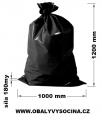 PE odpadový pytel černý - 1000 x 1200 mm, 180 my
