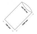 PE sáček průhledný - 700 x 1200 mm / 0,05