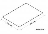 Hadr na podlahu - 47 x 62 cm, bílý