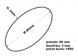 Gumičky svazkovací - 80 mm 3mm síla