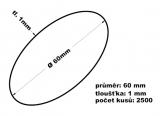 Gumičky svazkovací - 60 mm 1 mm síla