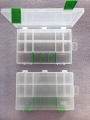 Organizér  bílo-zelený 251645-plastová krabička na kancel.a drobné předměty