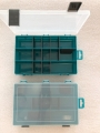 Organizér  tm.zelený 251645-plastová krabička na kancel.a drobné předměty