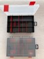 Organizér  hnědý 251645-plastová krabička na kancel.a drobné předměty