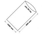 PE sáček průhledný - 1000 x 800 mm / 0,05