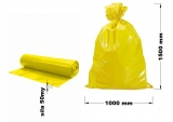 PE odpadový pytel žlutý - 1000 x 1500 mm, 50 my